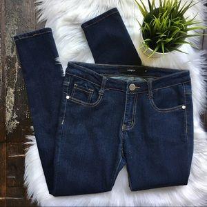 Francesca's HARPER Dark Wash Skinny Jeans 27 EUC